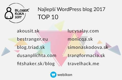 najlepší wordpress blog 2017
